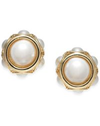 Charter Club - Gold-tone Imitation Pearl Stud Earrings, Created For Macy's - Lyst