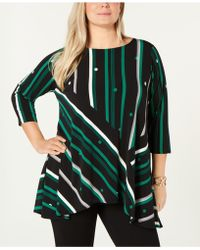 Alfani - Plus Printed High-low Tunic, Created For Macy's - Lyst