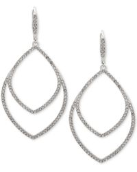 Anne Klein - Pavé Orbital Drop Earrings - Lyst