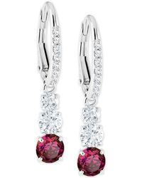 Swarovski - Silver-tone Crystal Drop Earrings - Lyst