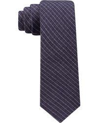 Calvin Klein   Men's Cord Grid Slim Tie   Lyst
