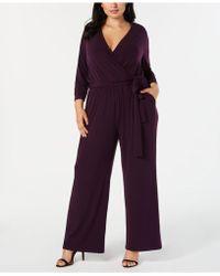 Alfani - Plus Size Tie-waist Jumpsuit, Created For Macy's - Lyst