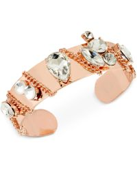INC International Concepts | Crystal Chain Cuff Bracelet | Lyst