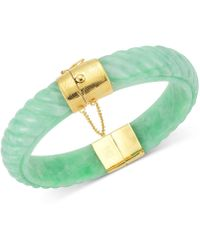 Macy's - Dyed Jadeite Bangle Bracelet In 14k Gold Over Sterling Silver - Lyst