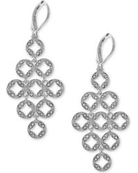 Anne Klein - Pavé Chandelier Earrings - Lyst
