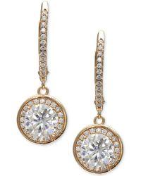 Giani Bernini | Cubic Zirconia Halo Drop Earrings In 18k Rose Gold-plated Sterling Silver | Lyst