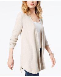 Style & Co. - Lace-up Cardigan, Created For Macy's - Lyst