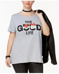 Hybrid | Plus Size Minnie Mouse Good Life T-shirt | Lyst