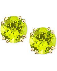 Macy's | 14k Gold Peridot Stud Earrings (4 Ct. T.w.) | Lyst