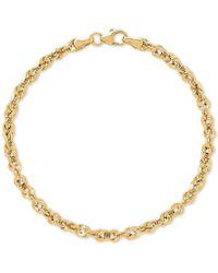Macy's - Fancy Link Bracelet In 10k Gold - Lyst