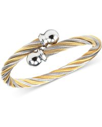Charriol - Women's Celtic Two-tone Pvd Stainless Steel Cable Bangle Bracelet 04-801-1216-0s - Lyst