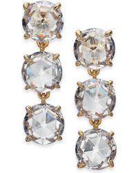 Kate Spade - Gold-tone Stone Triple Drop Earrings - Lyst
