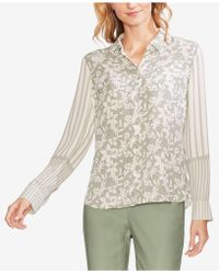 Vince Camuto - Mixed-print Blouse - Lyst