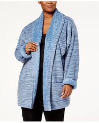 Hue - Plus Size Illusion Cosy Open-front Robe - Lyst