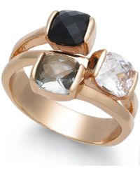 Charter Club | Gold-tone Triple-stone Ring | Lyst