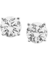 Macy's - Certified Colorless Diamond Stud Earrings In 18k White Gold (1 Ct. T.w.) - Lyst