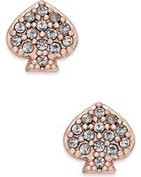 Kate Spade - Pavé Signature Spade Stud Earrings - Lyst