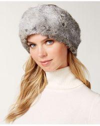 Surell - Convertible Rabbit Fur Headband Collar - Lyst