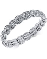 INC International Concepts - I.n.c. Silver-tone Pavé Stretch Bracelet, Created For Macy's - Lyst
