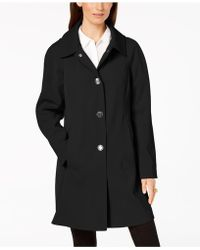 London Fog - Hooded Snap-front Raincoat - Lyst
