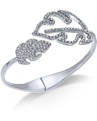 INC International Concepts - I.n.c. Silver-tone Pavé Palm Leaf Bypass Bracelet, Created For Macy's - Lyst