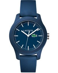 Lacoste - Women's 12.12 Blue Rubber Strap Watch 38mm 2000955 - Lyst