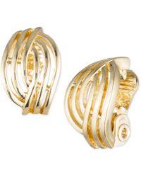 Anne Klein | Weave-style Clip-on Earrings | Lyst
