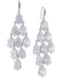 Carolee - Silver-tone Crystal Chandelier Earrings - Lyst