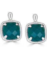 Macy's - Green Agate Twist Drop Earrings In Sterling Silver - Lyst