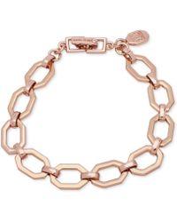 Ivanka Trump - Rose Gold-tone Open Geometric Link Bracelet - Lyst