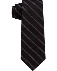 DKNY - Level Stripe Silk Slim Tie - Lyst
