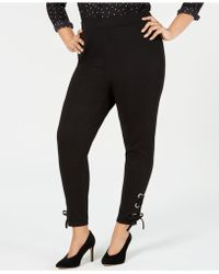 INC International Concepts - I.n.c. Plus Size Lace-up Ankle Leggings, Created For Macy's - Lyst