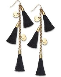 INC International Concepts - I.n.c. Gold-tone Disc & Tassel Linear Drop Earrings, Created For Macy's - Lyst
