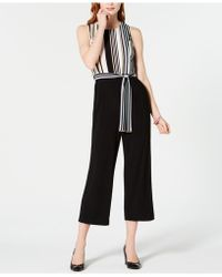 Tommy Hilfiger - Striped-top Cropped Jumpsuit, Created For Macy's - Lyst