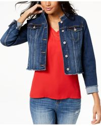 INC International Concepts - I.n.c. Cropped Denim Jacket, Created For Macy's - Lyst