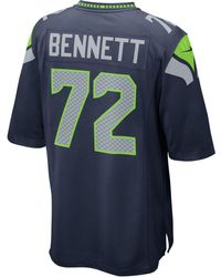 Nike - Men's Michael Bennett Seattle Seahawks Game Jersey - Lyst