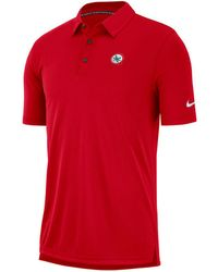 6fb2f71b Lyst - Nike Men's Ohio State Buckeyes Basketball Elite Polo in Red ...