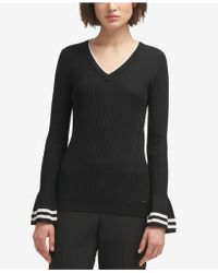DKNY - Bell-sleeve Sweater, Created For Macy's - Lyst