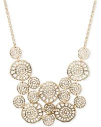 Lonna & Lilly - Gold-tone Textured Disc Drama Necklace - Lyst
