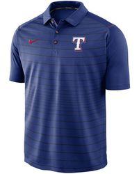 Nike - Texas Rangers Stripe Polo - Lyst