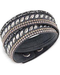 Swarovski - Slake Pulse Crystal Wrap Bracelet - Lyst