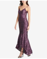 Vince Camuto - High-low Sequin Gown - Lyst