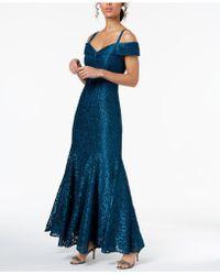 R & M Richards - Off-the-shoulder Lace Gown, Regular & Petite Sizes - Lyst