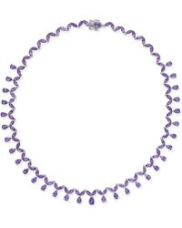 Macy's - Amethyst All-around Statement Necklace (28-3/4 Ct. T.w.) In Sterling Silver - Lyst