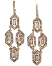 Ivanka Trump - Gold-tone Stone & Crystal Chandelier Earrings - Lyst