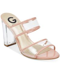 G by Guess - Brayla Lucite Dress Sandals - Lyst