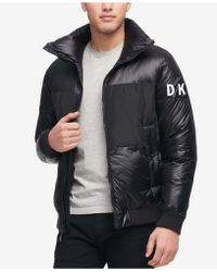 DKNY - Big & Tall Mixed-media Puffer Jacket, Created For Macy's - Lyst