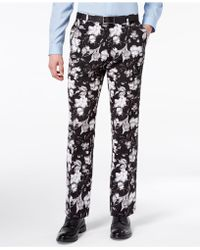 INC International Concepts - Slim-fit Ottoman Floral-print Trousers, Created For Macy's - Lyst