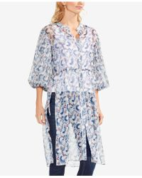 Vince Camuto - Sheer Bubble-sleeve Tunic - Lyst