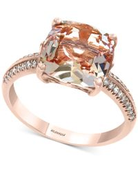 Effy Collection - Effy® Morganite (2-9/10 Ct. T.w.) & Diamond (1/8 Ct. T.w.) Ring In 14k Rose Gold - Lyst